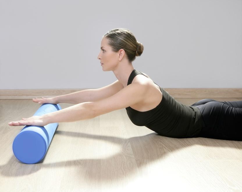 Lady doing Pilates Exercises