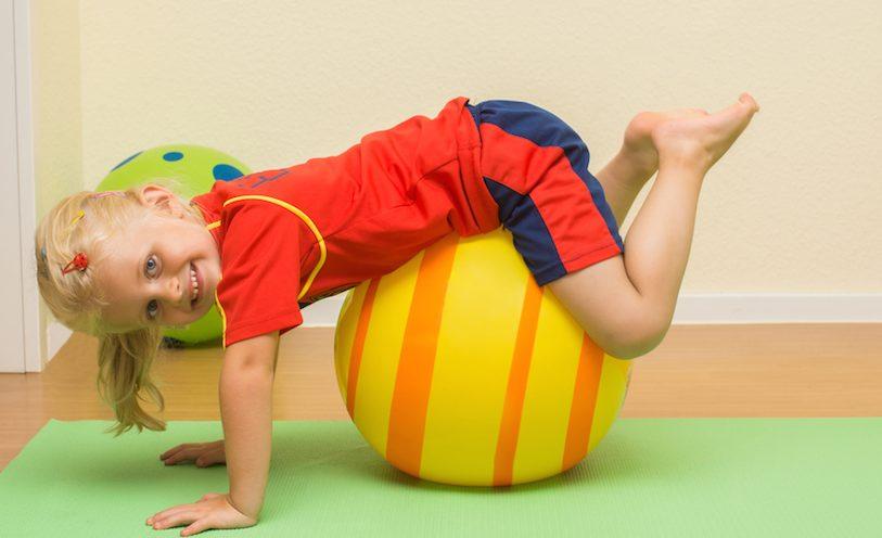 Girl on Physio Ball